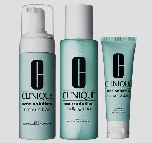 Clinique Acne Solutions 3 Steps Clear Skin System All Skin Types System New Large Full Sizes R Clinique Acne Solutions Acne Solutions Clinique Anti Blemish