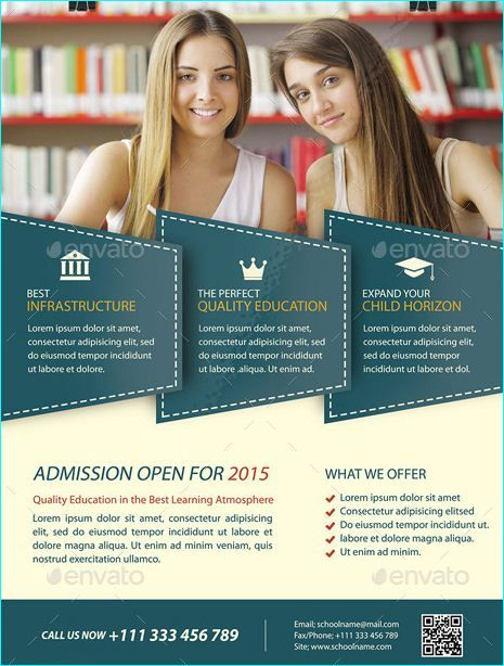 20 Professional Educational Psd School Flyer Templates