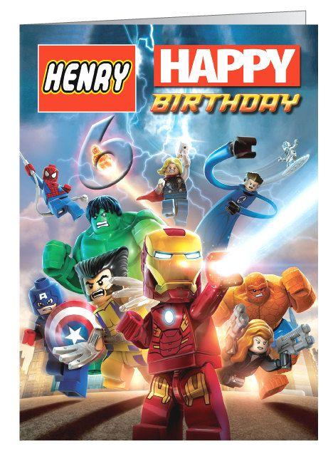 Lego Marvel Super Heroes Personalised Birthday By Cardsbycraftycat