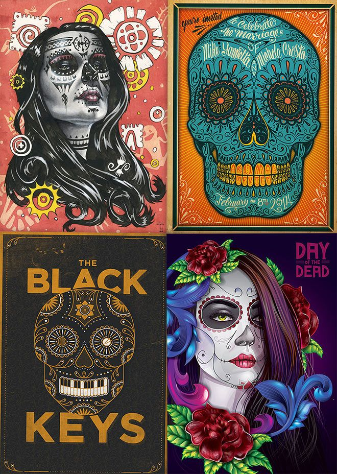 60 Beautiful Day Of The Dead Inspired Designs Artworks Day Of