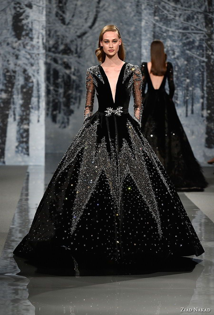 Ziad nakad couture fall dresses u ucthe snow crystalud collection