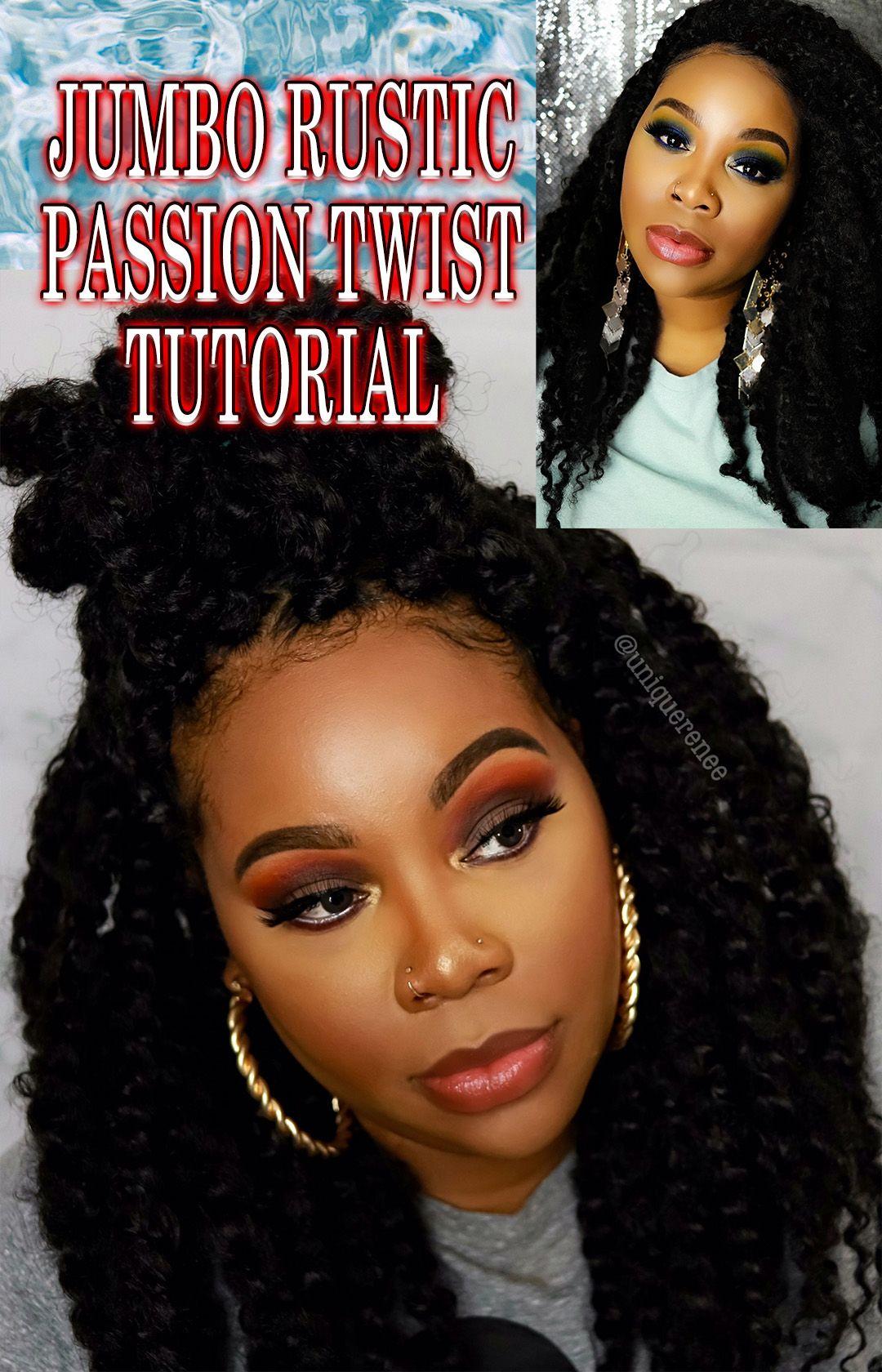 Jumbo Passion Twist Tutorial Rustic Crochet