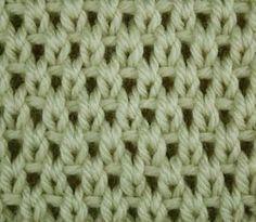 Perllochmuster Strickmuster Vorderseite Gestrickt Knitting