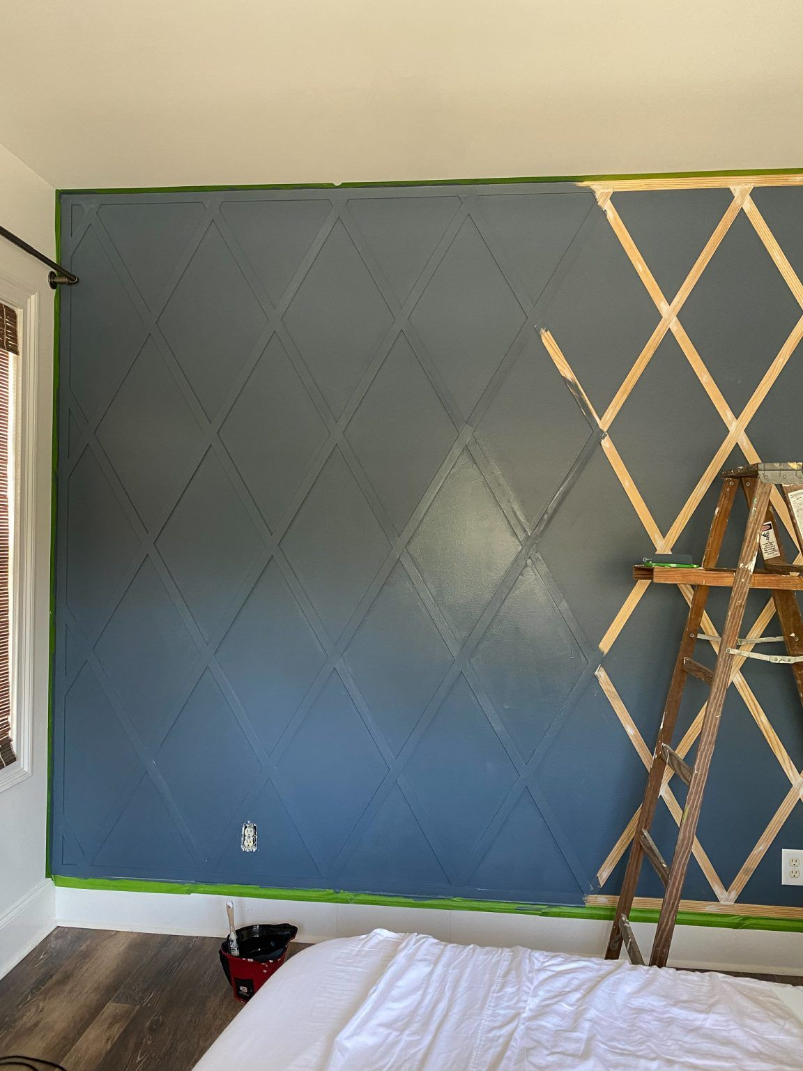 Photo of How to make a diamond pattern wood accent trellis wall – Cribbs Style