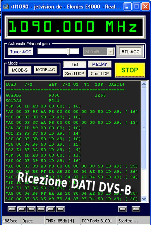 ADSB Virtual Radar rtl2832 rtl1090 i6ibe antenna 1090 Mhz