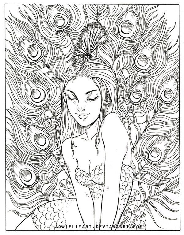 Original Art Is Up For Sale At My Shop Book Coming Soon Find Me Here Instagram Artstation Facebook Fairy Coloring Pages Coloring Pages Peacock Coloring Pages