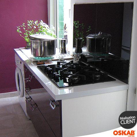 Cr dence de cuisine en verre alu bois b ton granit for Credence cuisine alu