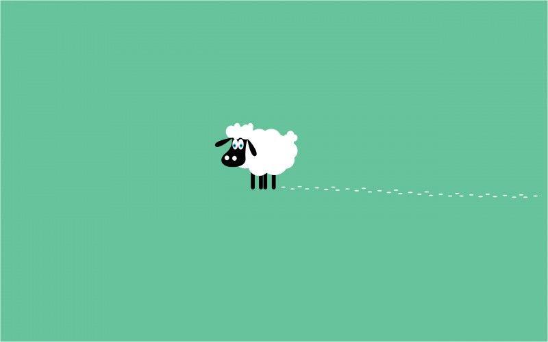 Sheep Wallpaper Animals Cartoon Wallpapers Minimalist Wallpaper Computer Wallpaper Cute Computer Backgrounds