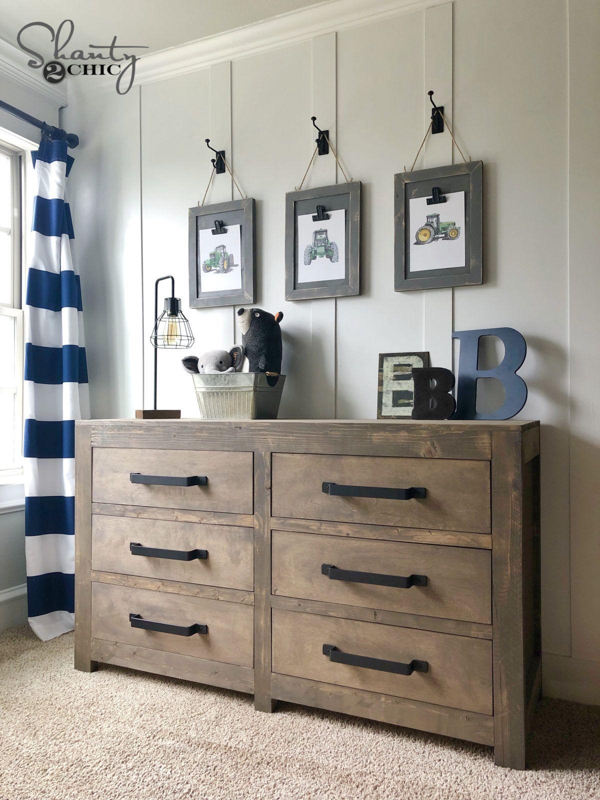DIY Modern Farmhouse 6 Drawer Dresser images