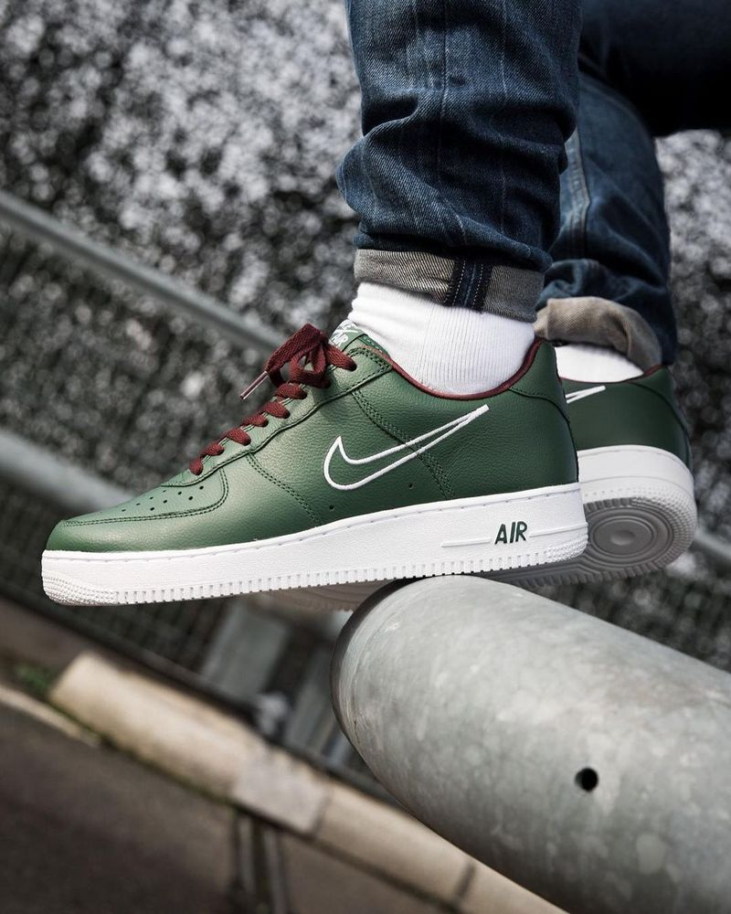 7b0dca30c3 NIKE AIR FORCE 1 'HONG KONG' DEEP FOREST, WHITE & EL DORADO SNEAKERS ALL  SIZES #Nike #RunningShoes