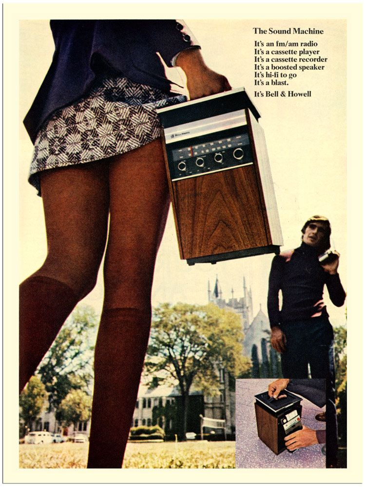 Sound Machine, Portable Stereo Advert, 1970S  Vintage -2918