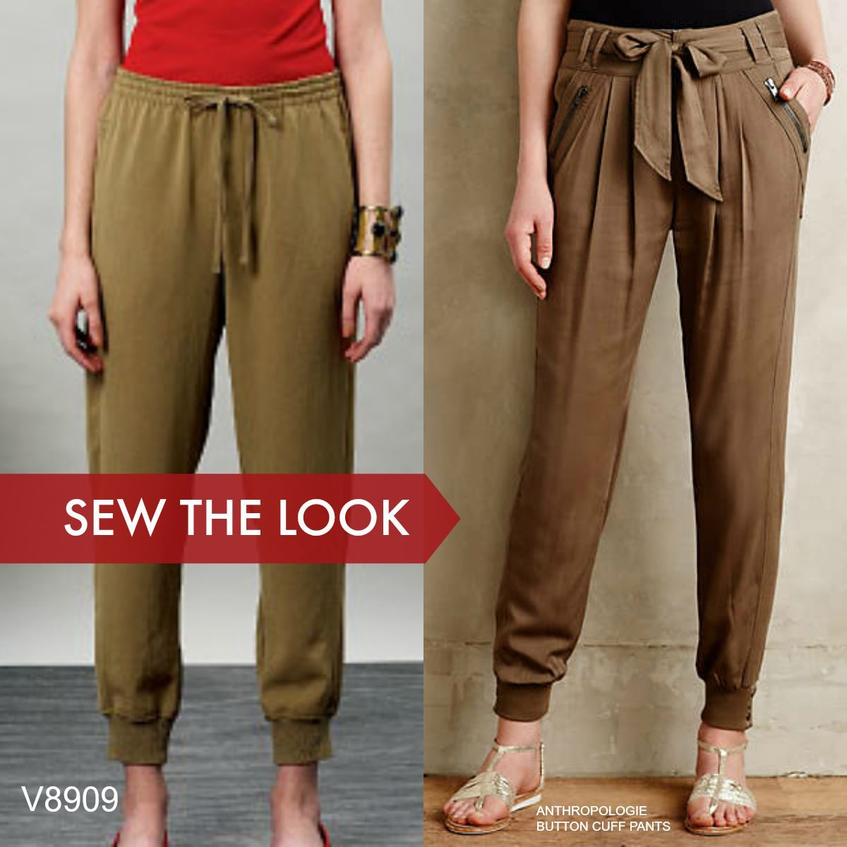 c0a2ec807bb4a0 Sew the Look: Jogging pants in silk or crepe are easy to wear and make.  This pattern is Vogue Patterns V8909.