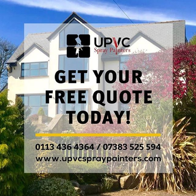 Contact us today for a FREE QUOTE!  . 📞 CALL 0113 4364 364 / 07383 525 594     📲 TEXT 07383525594  📧 EMAIL admin@upvcspraypainters.com  . Visit www.upvcspraypainters.com for more!  .   #paint #painting #respray #spraypaint #spraypainters#spraypainting #decorators #uPVC #uPVCspraypaint#uPVCspraypainting #uPVCspraypainters#windowspraying #doorspraying #garagespraying#ukbusiness #home #newhome #modernise #new #refurbished #homeimprovements#homedecor #homedesign #instadaily #in