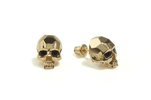 Browse Vampire Skull Stud Earrings Gold And More From Kasun At Wolf Badger The Leading Destination For Independent Designer Fashion Jewellery