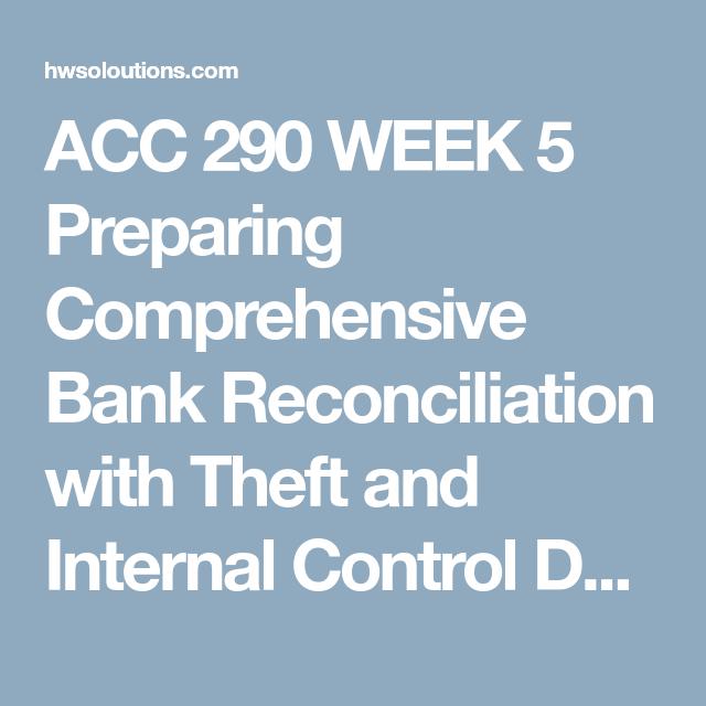 Acc  Week  Preparing Comprehensive Bank Reconciliation With