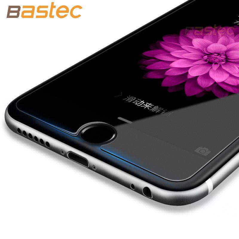 Bastec 2 개/몫 화면 보호기 HD 클리어 보호 필름 0.26 미리메터 2.5D 곡선 가장자리 강화 유리 iphone 7 6 6 초 플러스 5 초 5