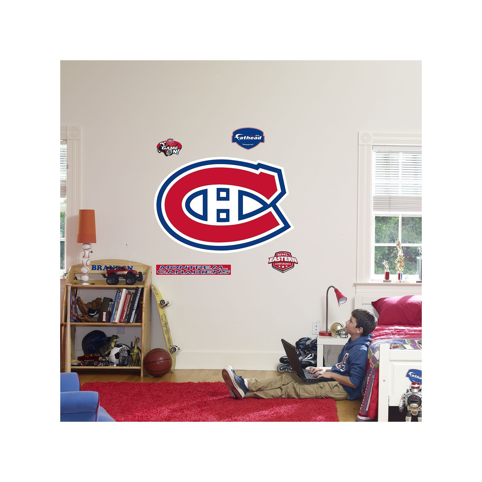 Fathead Montreal Canadiens Logo Wall Decal Multicolor Durable  sc 1 st  Pinterest & Fathead Montreal Canadiens Logo Wall Decal Multicolor | Wall decals ...