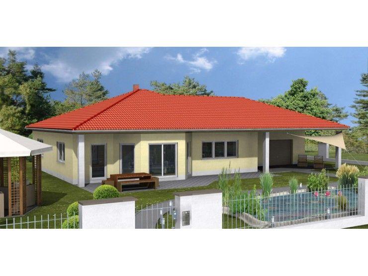Harmonie wohnhaus bungalow 134 einfamilienhaus von 1a for Bungalow modern mit garage