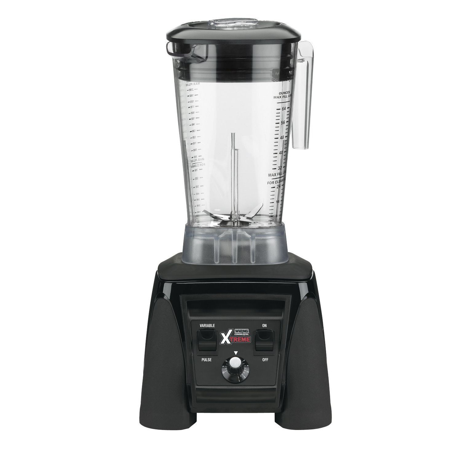 Waring Commercial MX1200XTX Xtreme Hi-Power Variable-Speed Food Blender + Raptor Copolyester Container, 64-Ounce