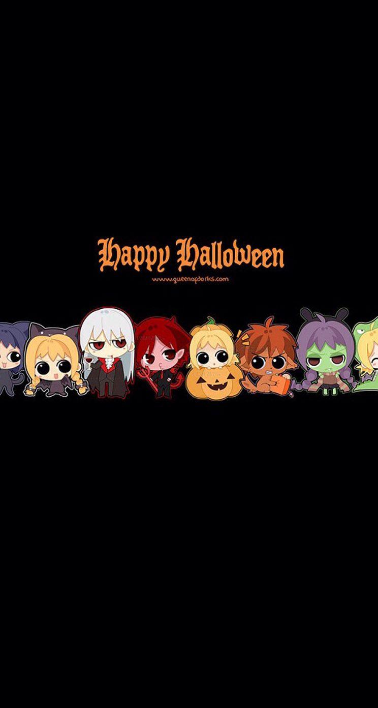 Happy Halloween Comic Character Halloween Wallpaper Backgrounds Anime Halloween Kawaii Wallpaper Anime cute halloween wallpaper
