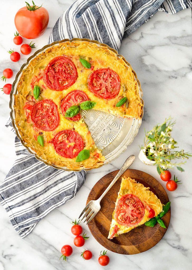 This GlutenFree Quiche with a Hash Brown Crust is an easy