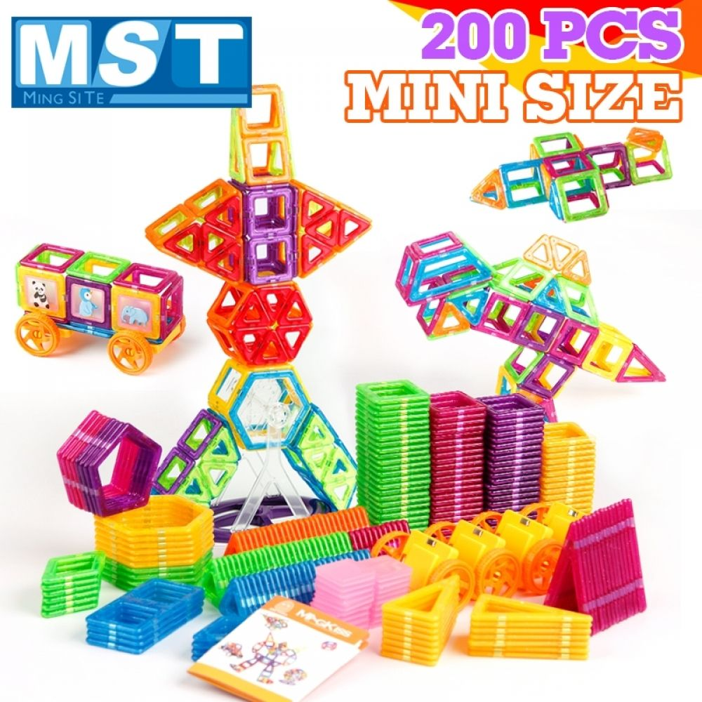 200PCS Magnetic Blocks Magnetic Designer Building ...