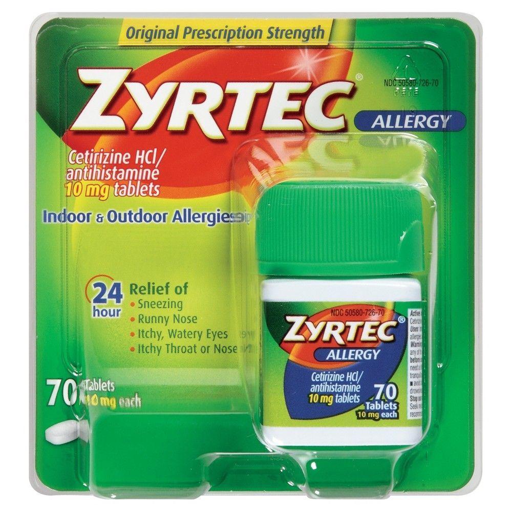Zyrtec 24 Hour Allergy Relief Tablets Cetirizine HCl