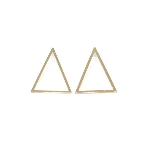 Large Triangle Outline Earrings Earrings 14k Gold Plated Outline