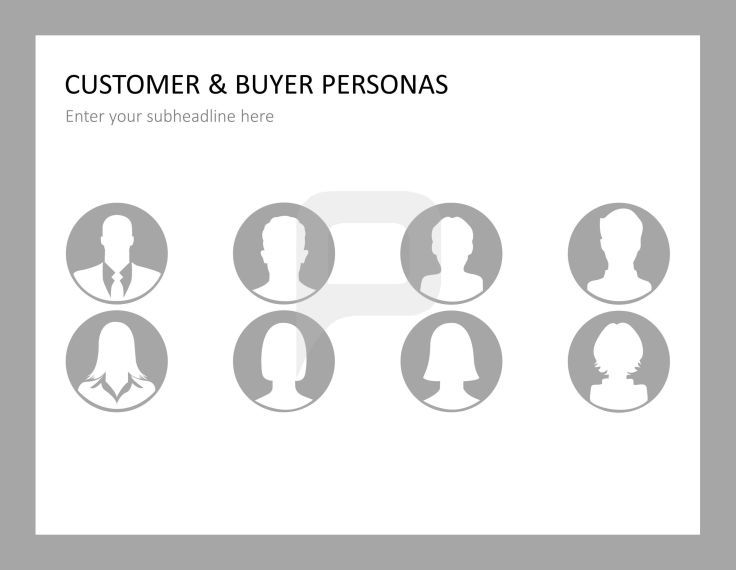 Customer profile images as flat design graphics CUSTOMER CARE - customer profile
