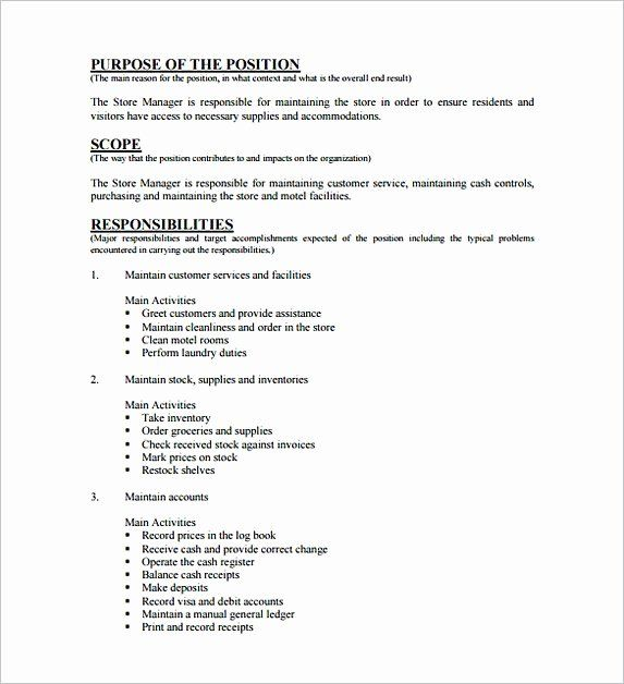 23 Assistant Manager Job Description Resume In 2020 Manager