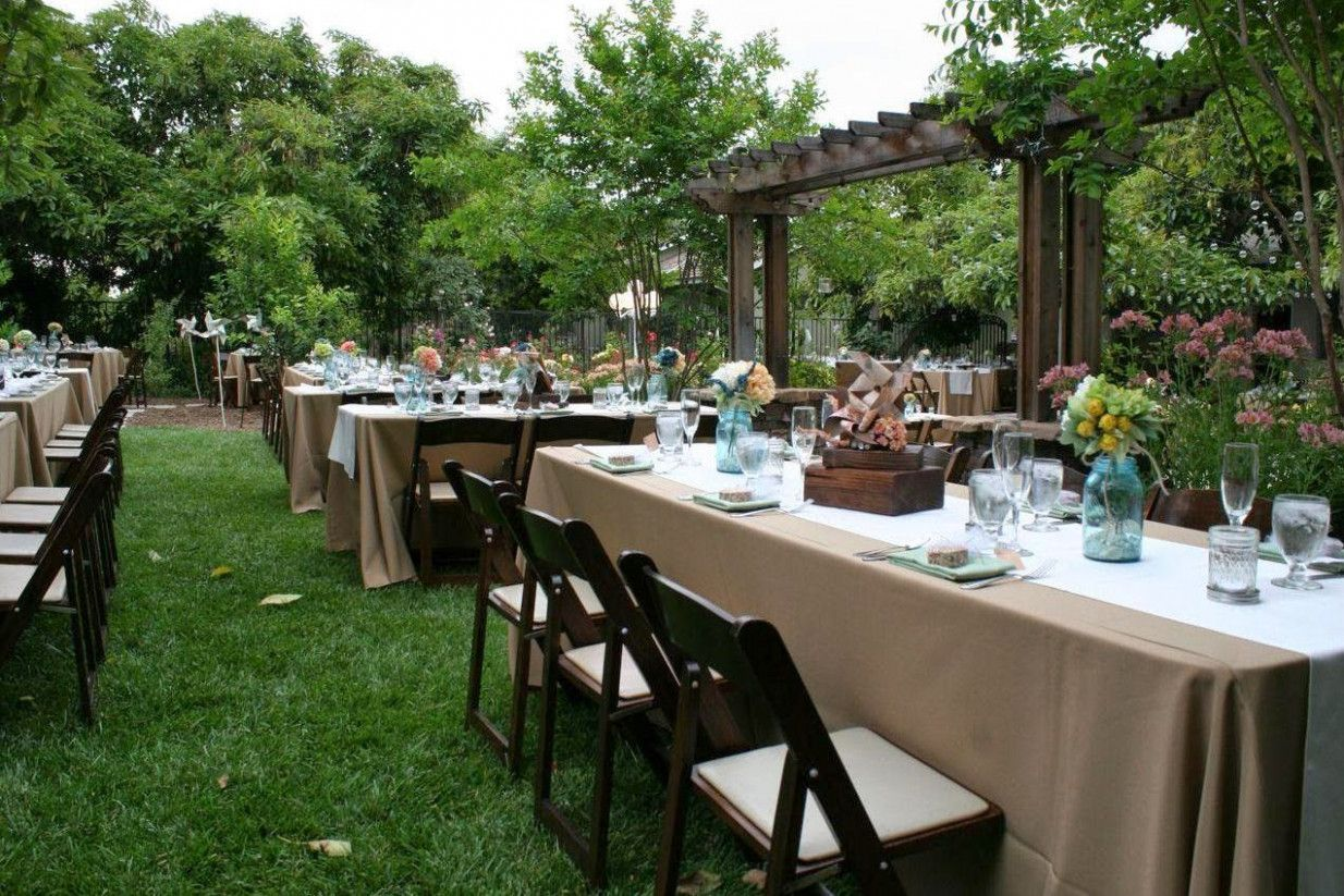 Wedding Ideas On A Budget DIY Outdoor | Wedding backyard ...