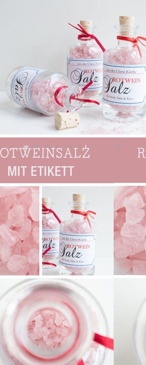 DIY-Anleitung: Rotweinsalz mit Etikett via DaWanda.com | Kleine ...