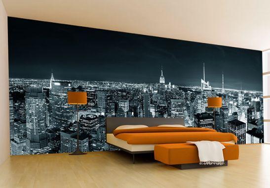 Fototapete New York at Night 2 Panorama   Art walls and Walls