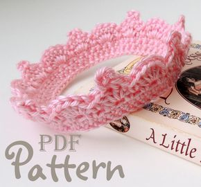 PDF CROCHET PATTERN - Make It Yourself:  Baby Crown Crochet Pattern for Girl or Boy, Lots of Photos, Baby Tiara, PhotoProp, Digital Download #crownscrocheted