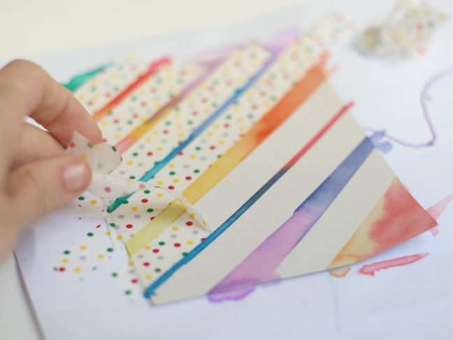 Diy Watercolor Washi Tape Cards Washi Tape Cards Watercolor