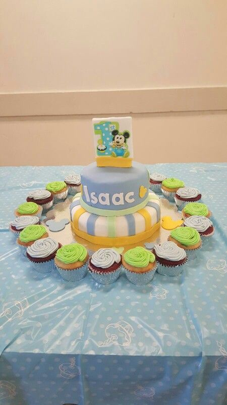 Mikey 1st birthday cake  #firstbirthday # mickeycake