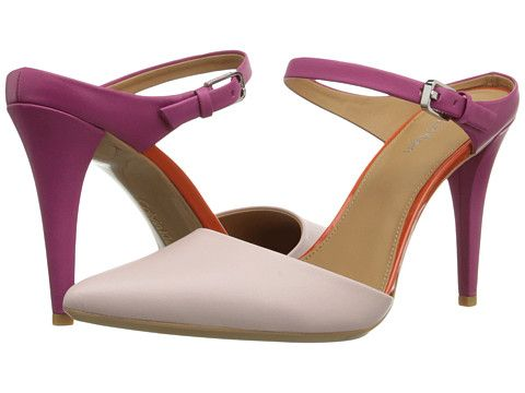 Womens Shoes Calvin Klein Ginnie Dancer Pink/Jazzberry Leather/Patent