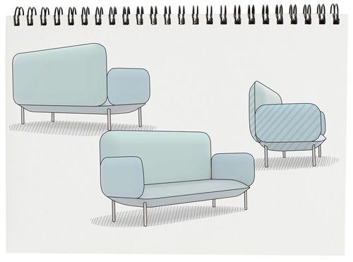 Conçu par la designer norvégienne Anna Øren du studio Nokoanna et fabriqué par l'éditeur Brunstad, le canapé Eira résonne comme un hommage au design scandinave.