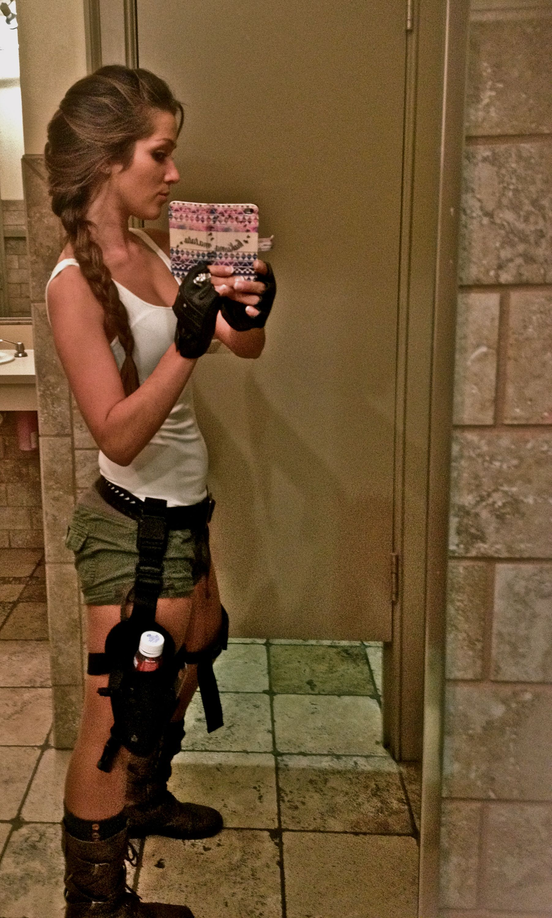 My Lara Croft Costume Ordered The Holsters And Gloves On
