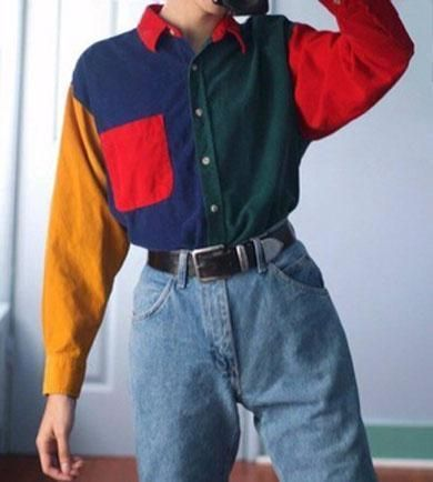 ERIN primary colour shirt, #Colour #ERIN #primary #shirt #womenclothesvintage