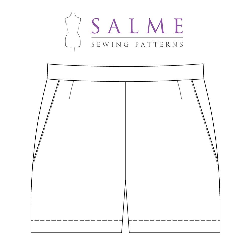 Digital Sewing Pattern - Shorts With Side Zipper | Shorts Patterns ...