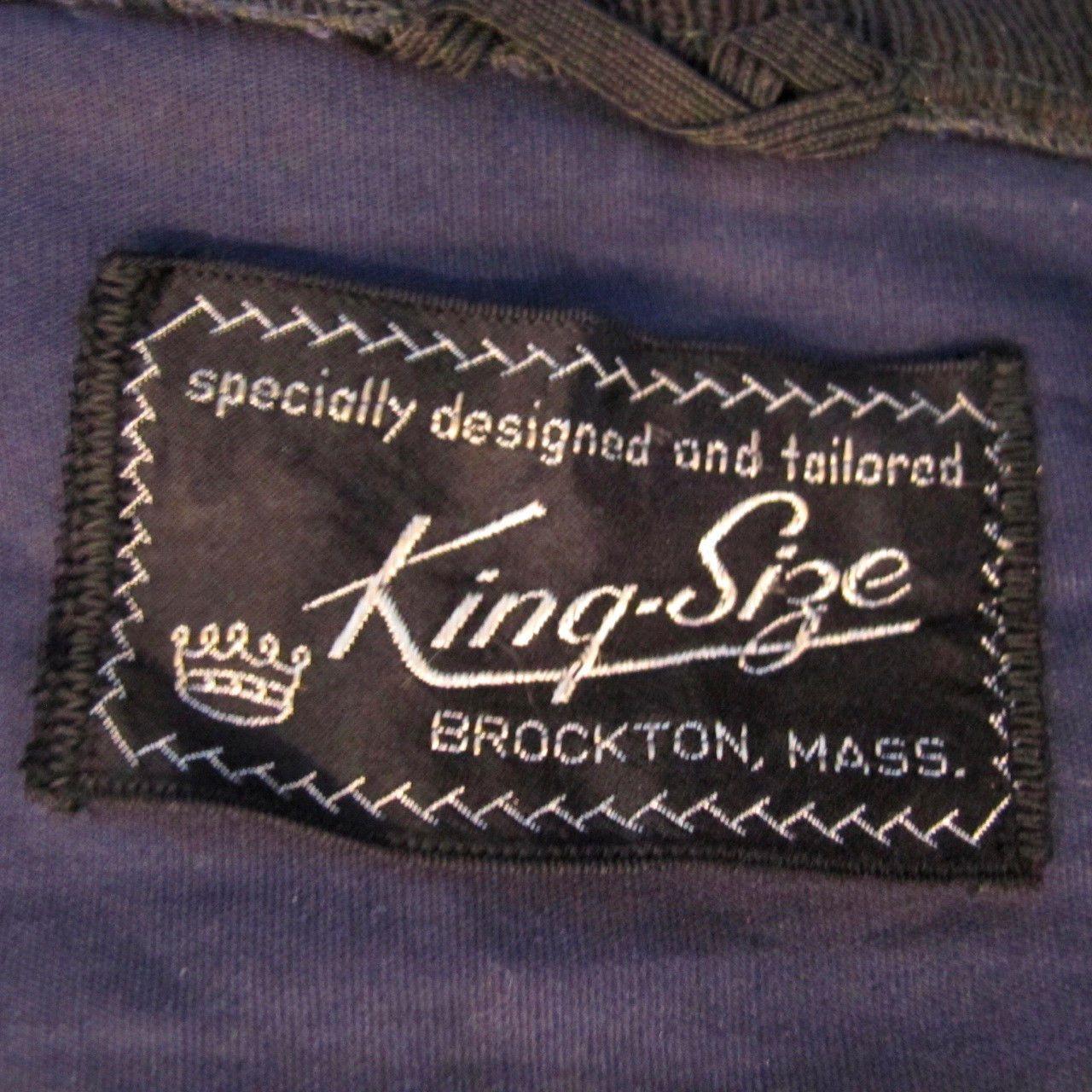 9c033bb13 VINTAGE ORIGINAL KING SIZE JACKET BROCKTON MASS 1950's BLUE XL ...