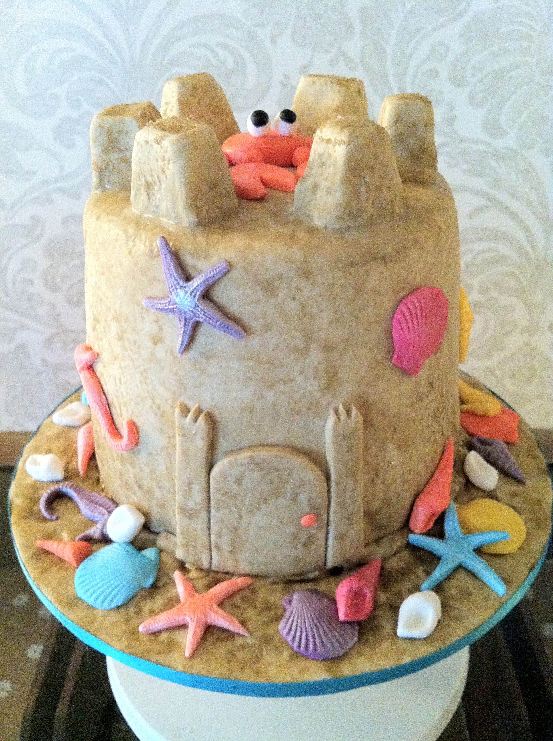 Sandcastle Cake With Images Castle Birthday Cakes Seaside