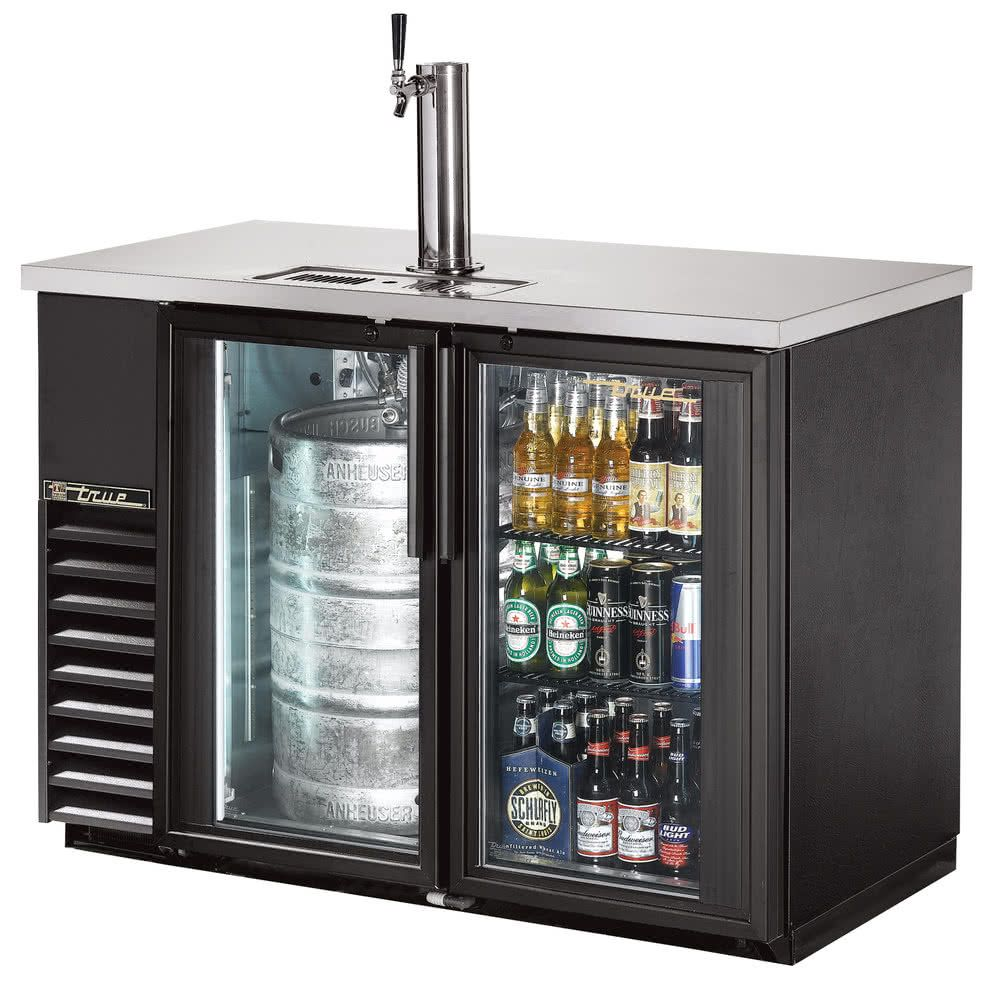 True tdb 24 48g ld 49 back bar direct draw kegerator beer dispenser true back bar direct draw kegerator beer dispenser with two glass doors and led lighting planetlyrics Image collections