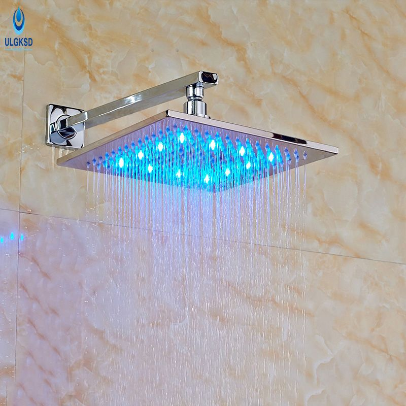 Ulgksd Wholesale and Retail Shower Head 12\'\' LED Bath Rainfall ...