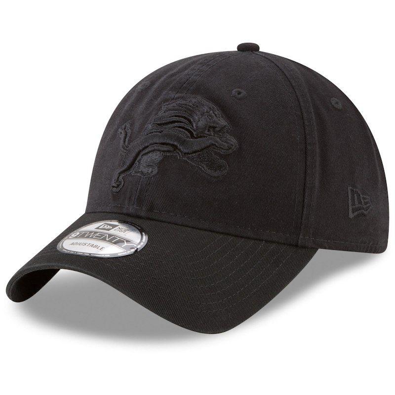 online store 13684 9422d Detroit Lions New Era Primary Logo Core Classic 9TWENTY Adjustable Hat -  Black