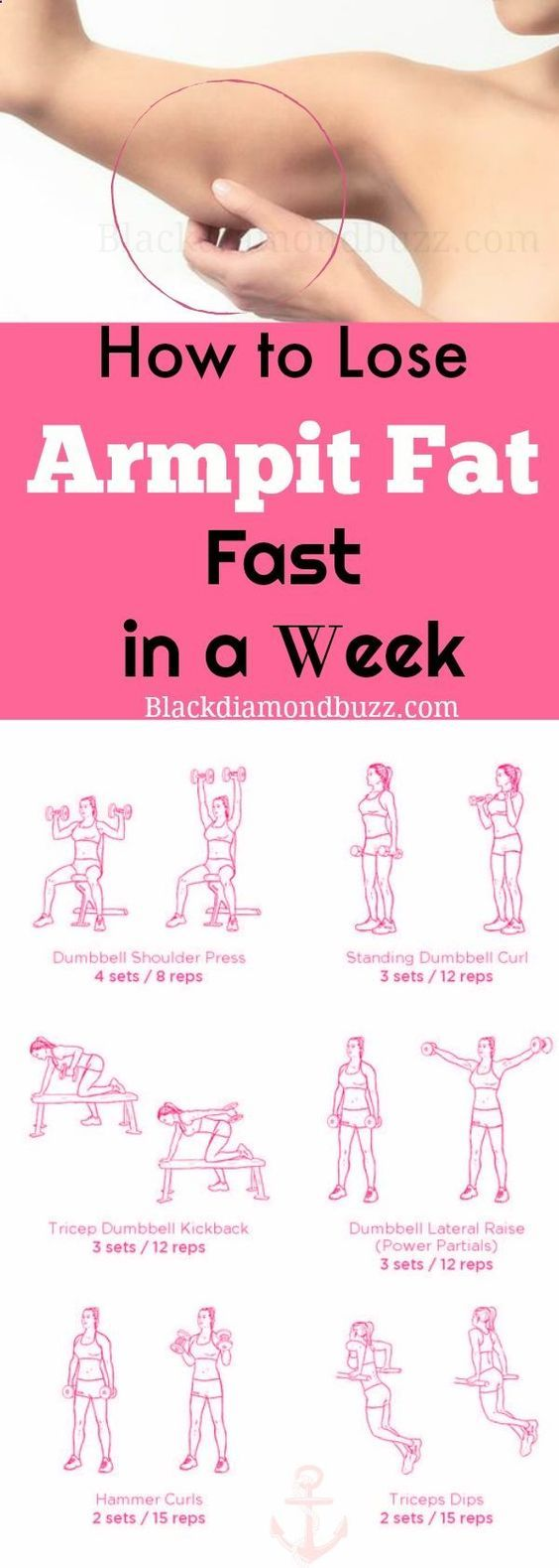How to Lose Armpit Fat Fast in a Week - Slim arms fast now ...