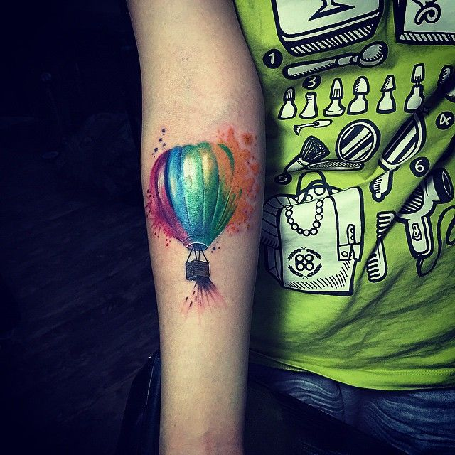 Copy Watercolor Balloon Tattoowatercolor Tattooballoon Copy