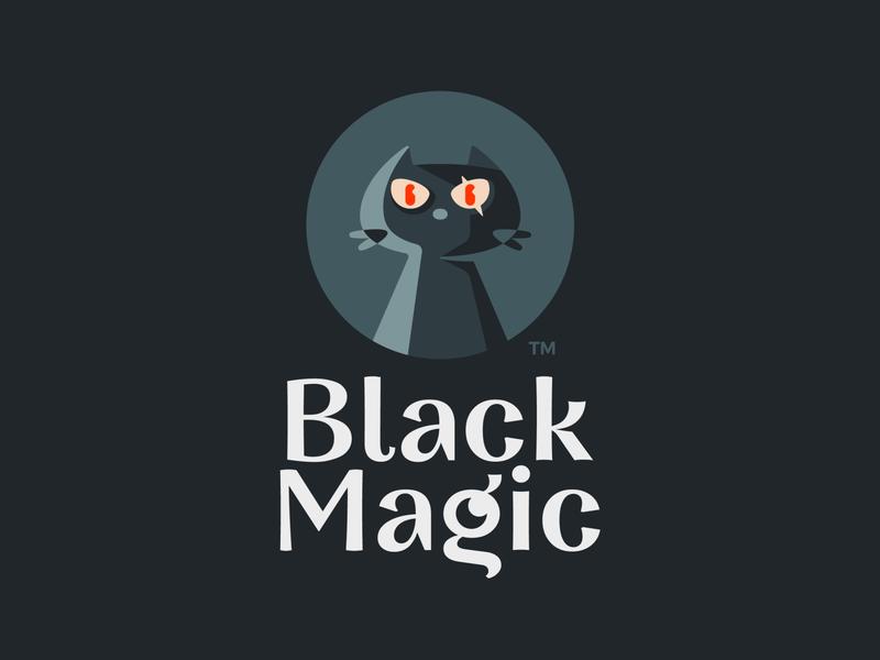 Black Magic Pet Logo Design Black Magic Logo Design