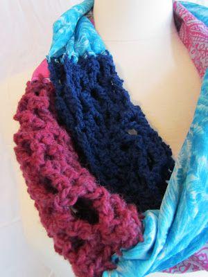 twobutterflies: Anthropologie inspirado: Circuito Crochet Spliced
